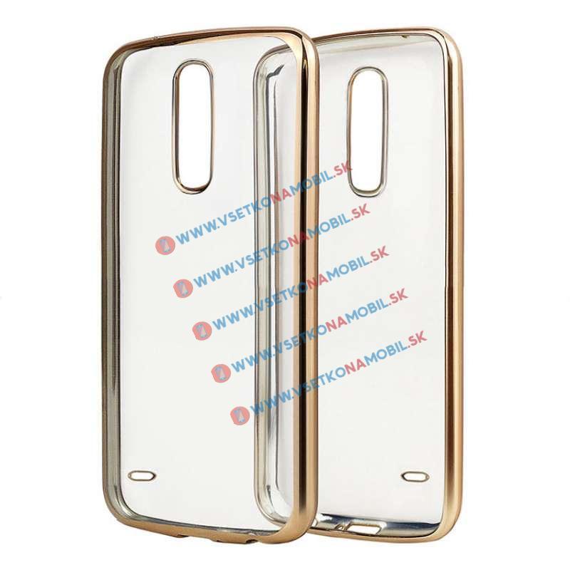 FORCELL METALLIC Silikónový obal LG K10 2017 zlatý
