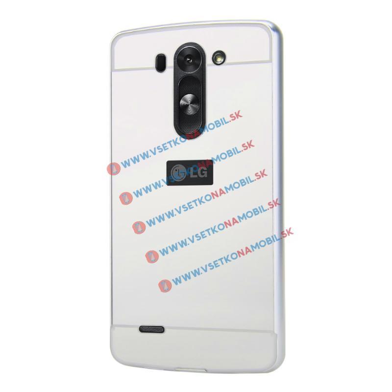 Ochranný Zrcadlový obal LG G3 stříbrný