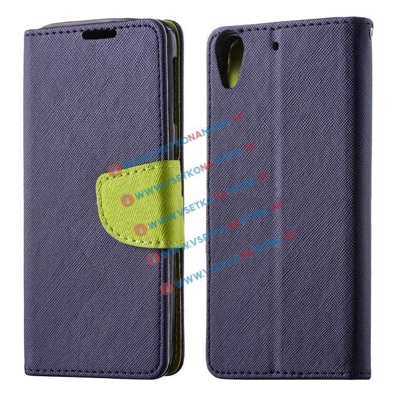 FORCELL FANCY Peňaženkový obal Huawei Y6 II modrý 9e4e5e4c2b5