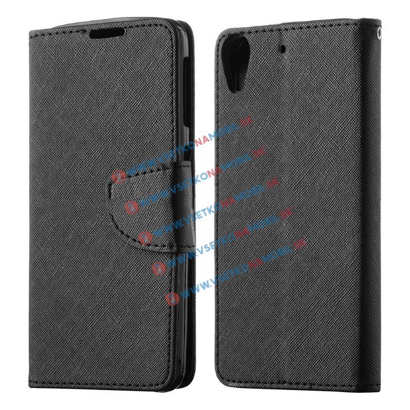 FANCY Peňaženkový obal Huawei Y6 II čierny