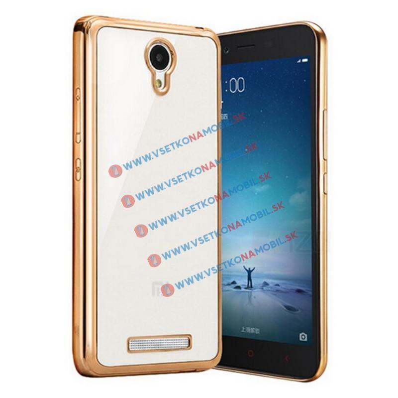 FORCELL METALLIC Silikónový obal Xiaomi Redmi Note 2 zlatý