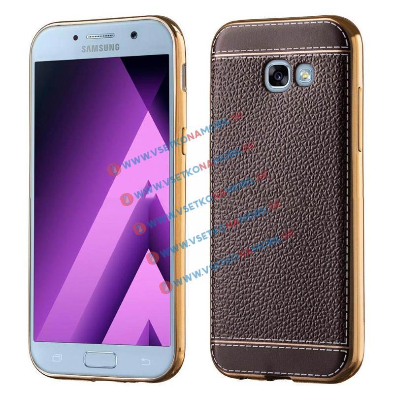 LITCHI Ochranný obal Samsung Galaxy A5 2017 hnědý