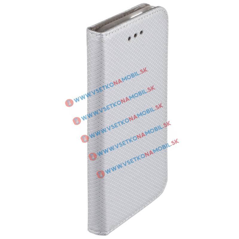 FORCELL MAGNET Peňaženkové púzdro Huawei P9 Lite 2017 strieborné