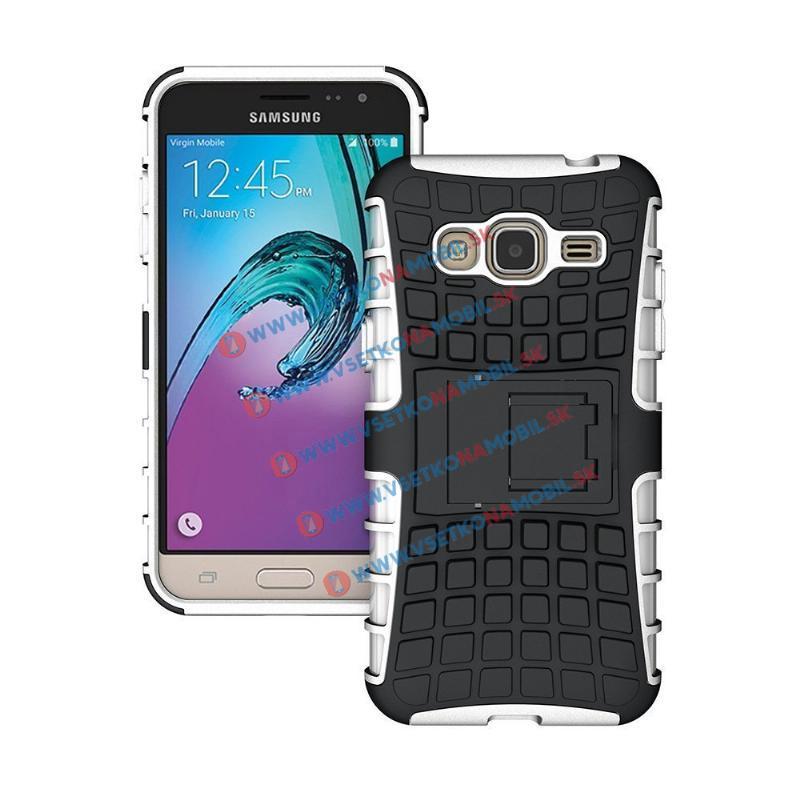 STAND Ochranný kryt Samsung Galaxy J3 2016 biely