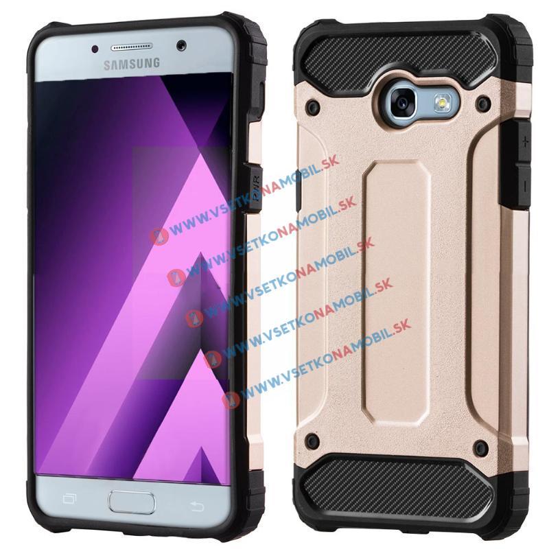 TOUGH Ochranný kryt Samsung Galaxy A3 2017 (A320) zlatý