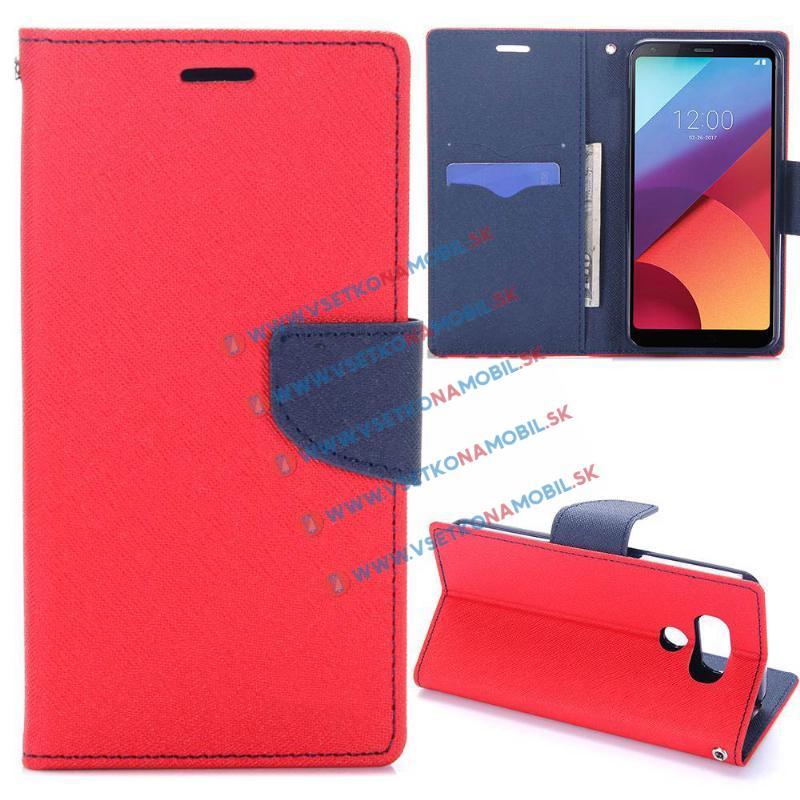 FORCELL FANCY Peňaženkové pouzdro LG G6 červené