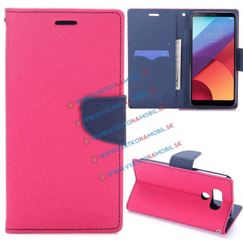 FANCY Peňaženkové púzdro LG G6 ružové strong