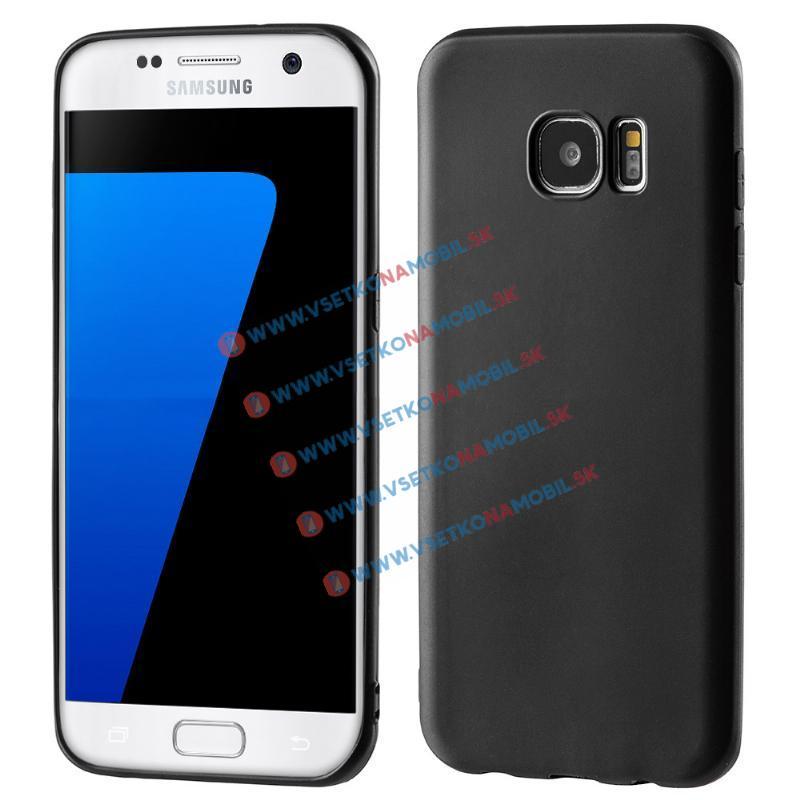 MATTE TPU Obal Samsung Galaxy S7 Edge černý