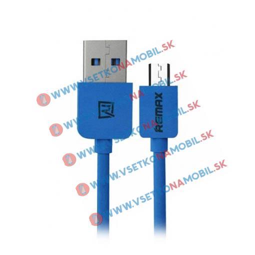 REMAX microUSB dátový kábel modrý