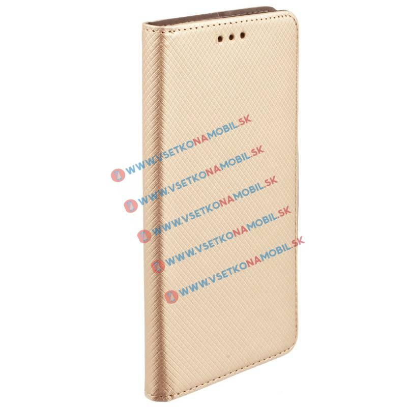 FORCELL MAGNET Peňaženkový obal Apple iPhone 5 / 5S / SE zlatý