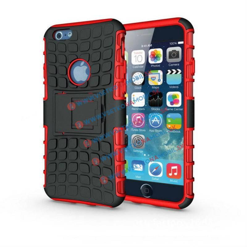 FORCELL STAND Ochranné pouzdro Apple iPhone 6 Plus / 6S Plus červené