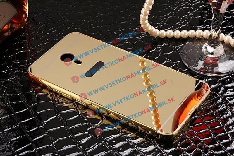 Ochranný zrcadlový obal Meizu M3 Note zlatý