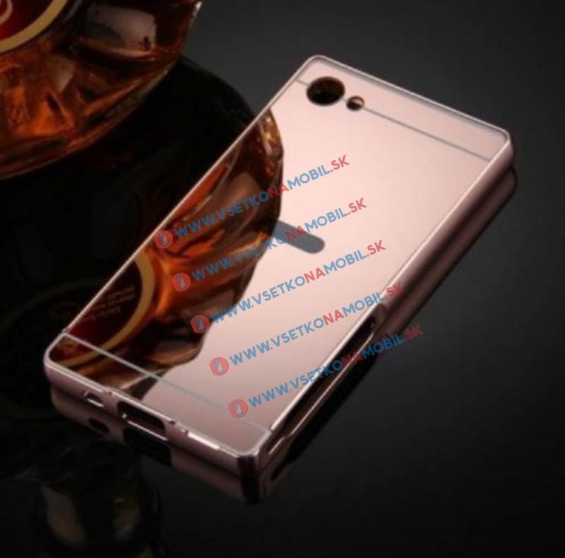 Ochranný zrkadlový obal Sony Xperia Z5 Compact ružový