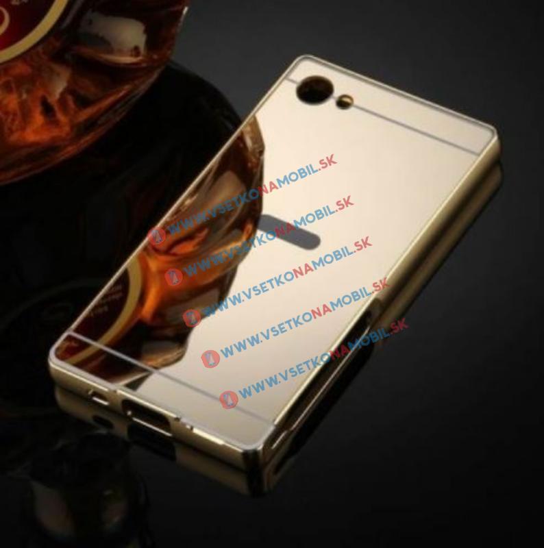 Ochranný zrkadlový obal Sony Xperia Z5 Compact zlatý