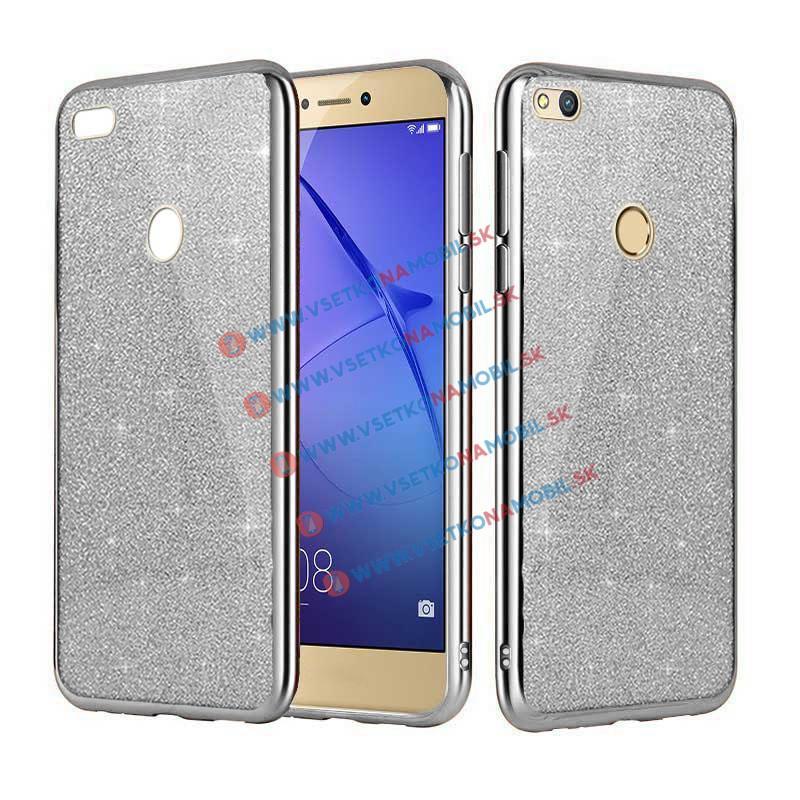 FORCELL GLite Silikonový obal Huawei P9 Lite 2017 stříbrný