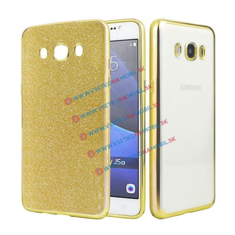 FORCELL GLIT Silikónový obal Samsung Galaxy J5 2016 (J510) zlatý