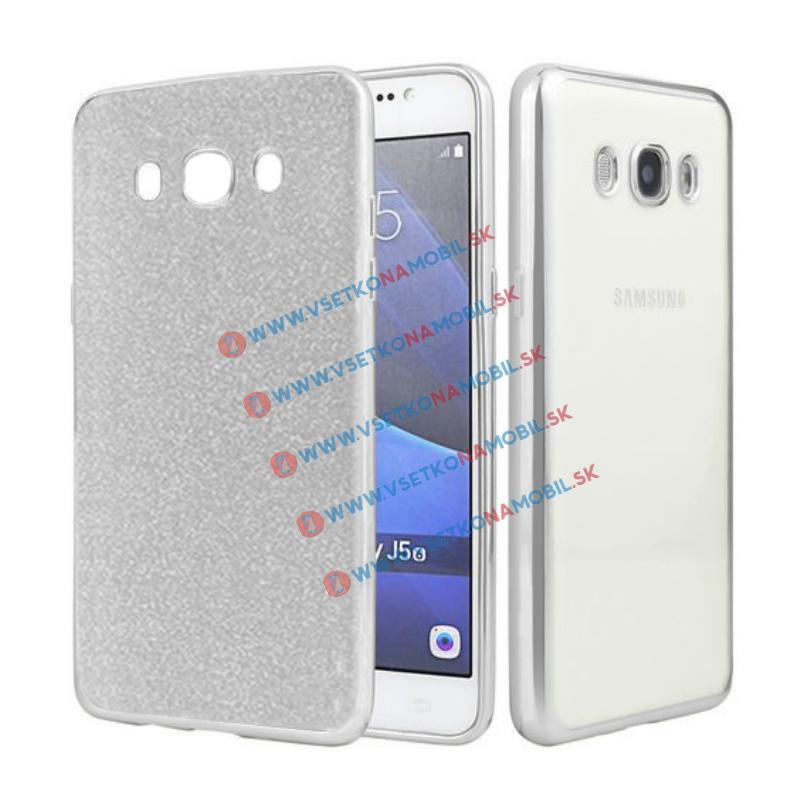FORCELL GLIT Silikónový obal Samsung Galaxy J5 2016 (J510) strieborný