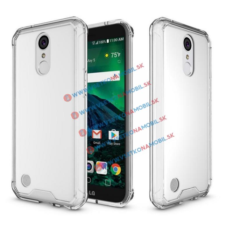 SHOCK Ochranný obal LG K10 2017 priehľadný