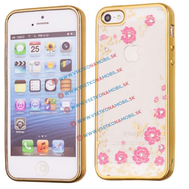 FORCELL BLOOM TPU Apple iPhone 5 / 5S / 5E zlatý