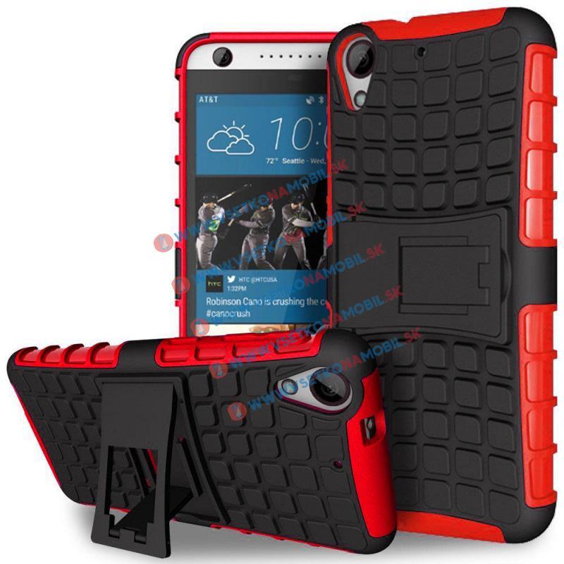STAND Extra odolný obal HTC Desire 530/630 červený