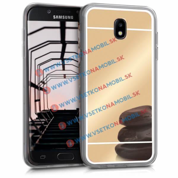 FORCELL Zrkadlový silikónový obal Samsung Galaxy J5 2017 (J530) zlatý