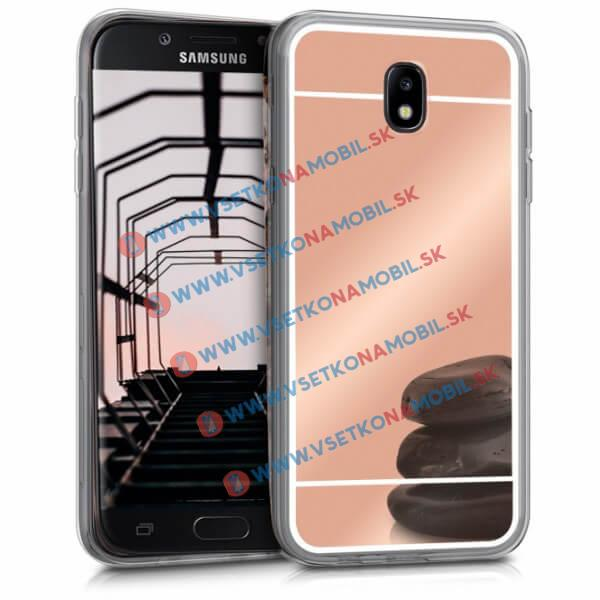 FORCELL Zrkadlový silikónový obal Samsung Galaxy J5 2017 (J530) ružový
