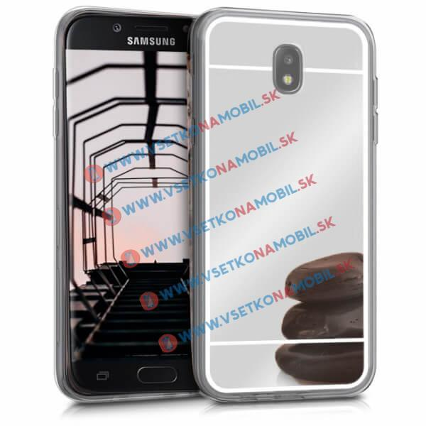 FORCELL Zrkadlový silikónový obal Samsung Galaxy J5 2017 (J530) strieborný