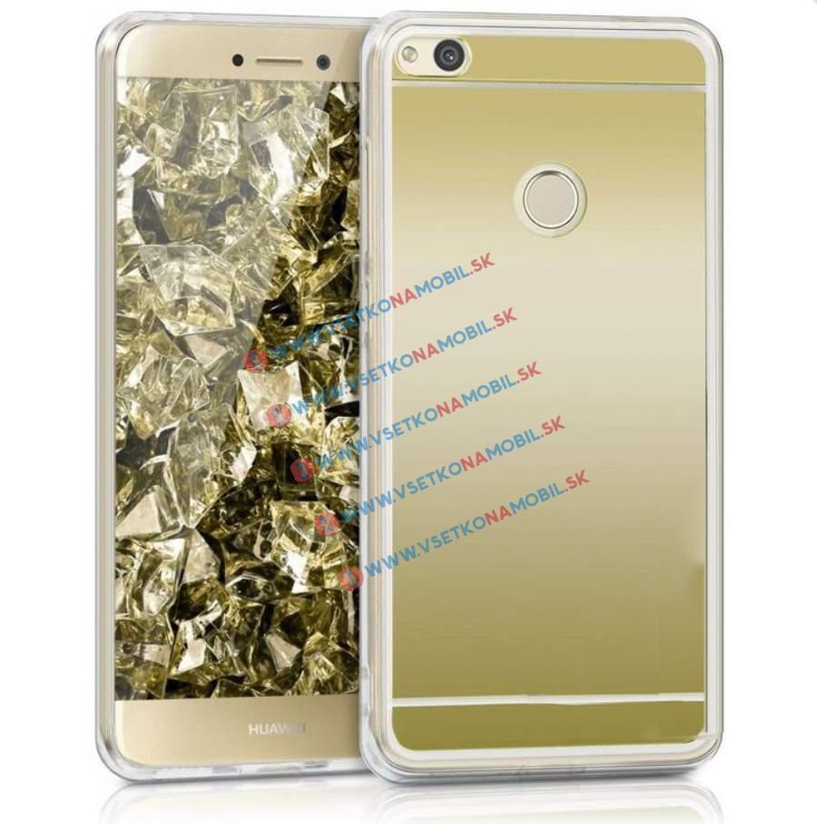 FORCELL Zrkadlový silikónový obal Huawei P9 Lite 2017 zlatý