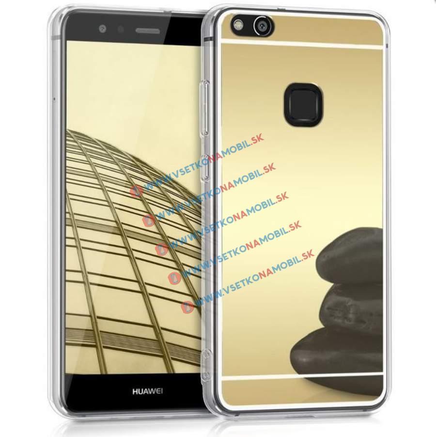 FORCELL Zrcadlový silikonový obal Huawei P10 Lite zlatý