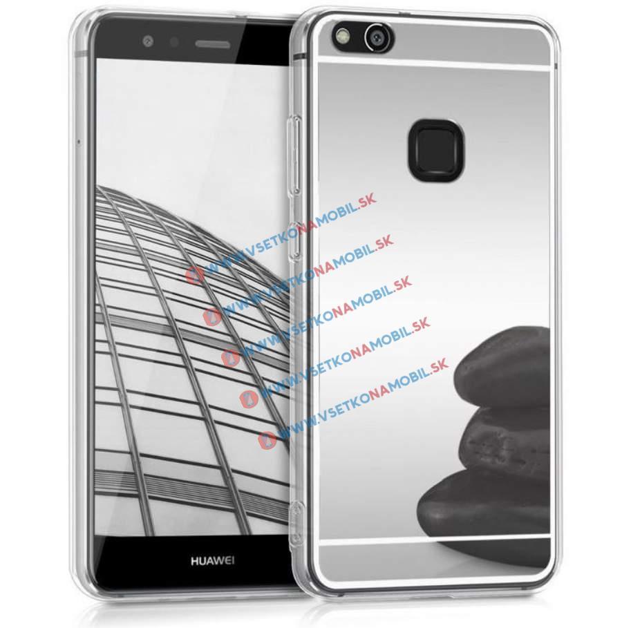 FORCELL Zrcadlový silikonový obal Huawei P10 Lite stříbrný