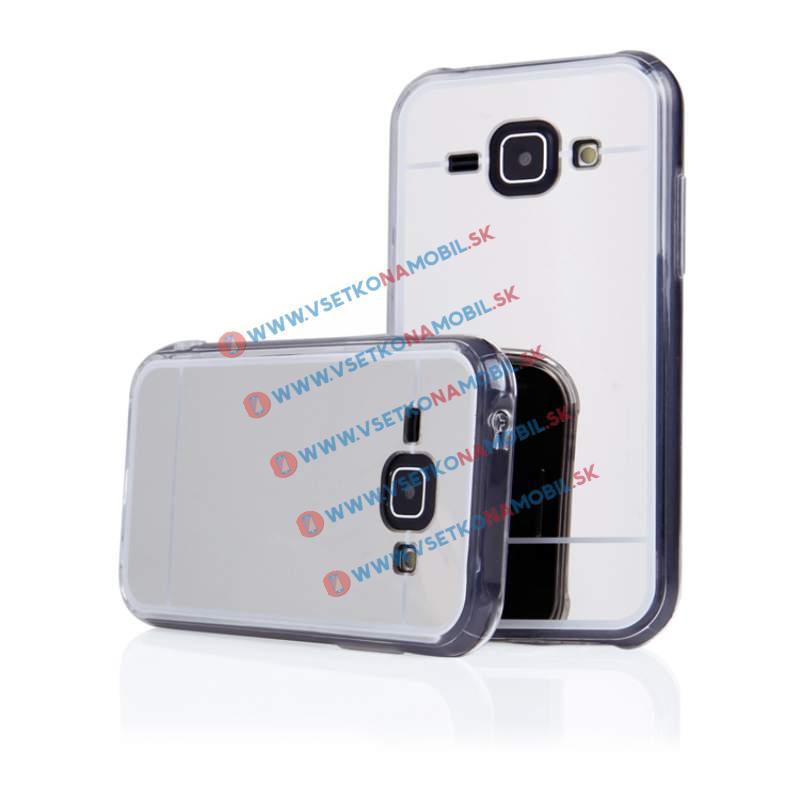 FORCELL Zrcadlový silikonový obal Samsung Galaxy J1 2015 (J100) stříbrný