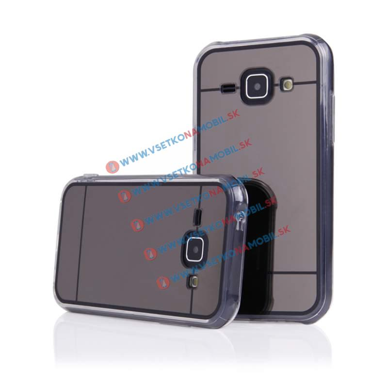 FORCELL Zrkadlový silikónový obal Samsung Galaxy J1 2015 (J100) čierny