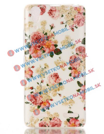 FORCELL Silikonový obal Lenovo A6000 / 6010/6000 + FLOWERS