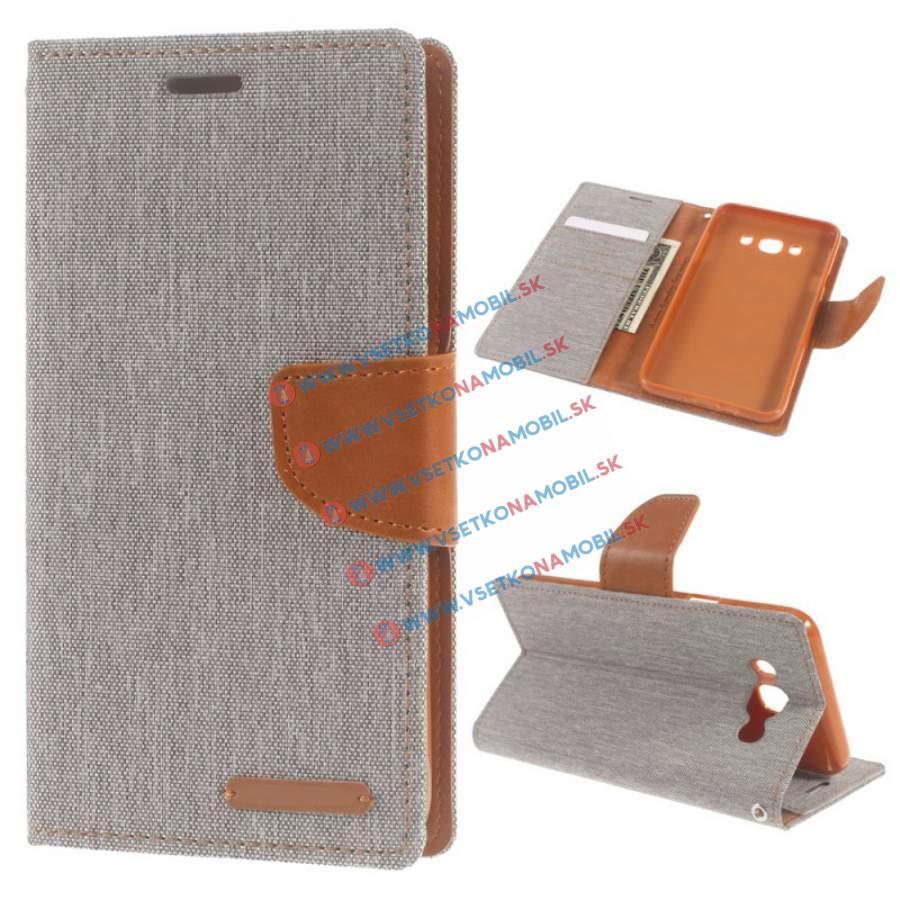 CANVAS Peňaženkový obal Samsung Galaxy J7 2016 (J710) šedý