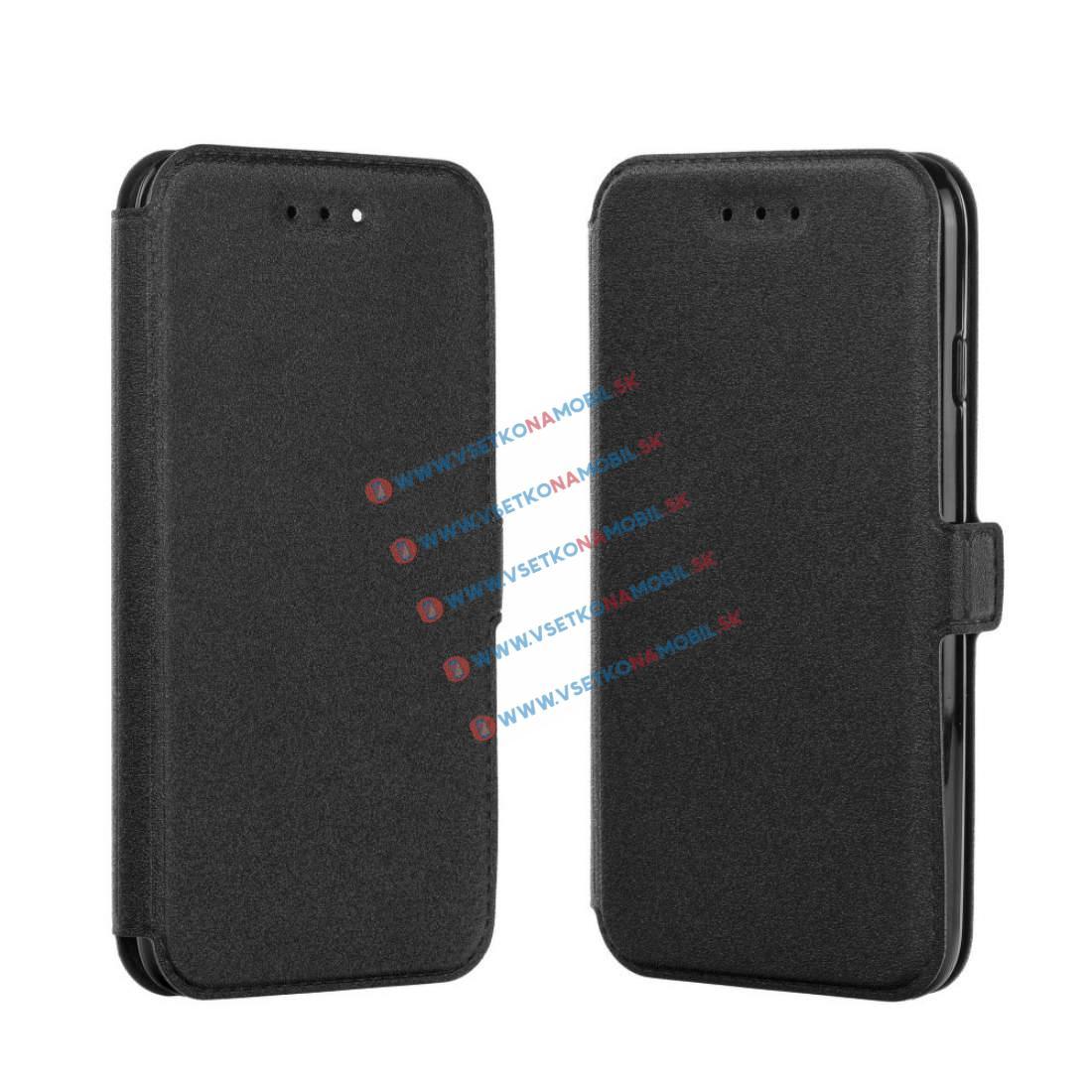FORCELL SMOOTH Ultratenký flip obal Apple iPhone 5 / 5S / SE černý