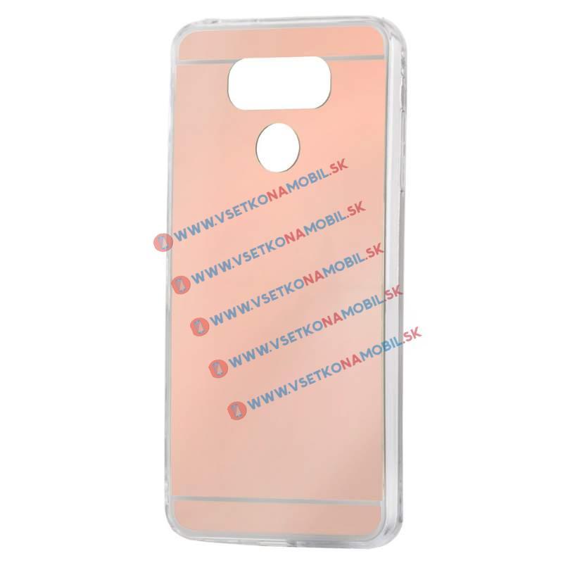 FORCELL Zrkadlový silikónový obal LG G6 ružový