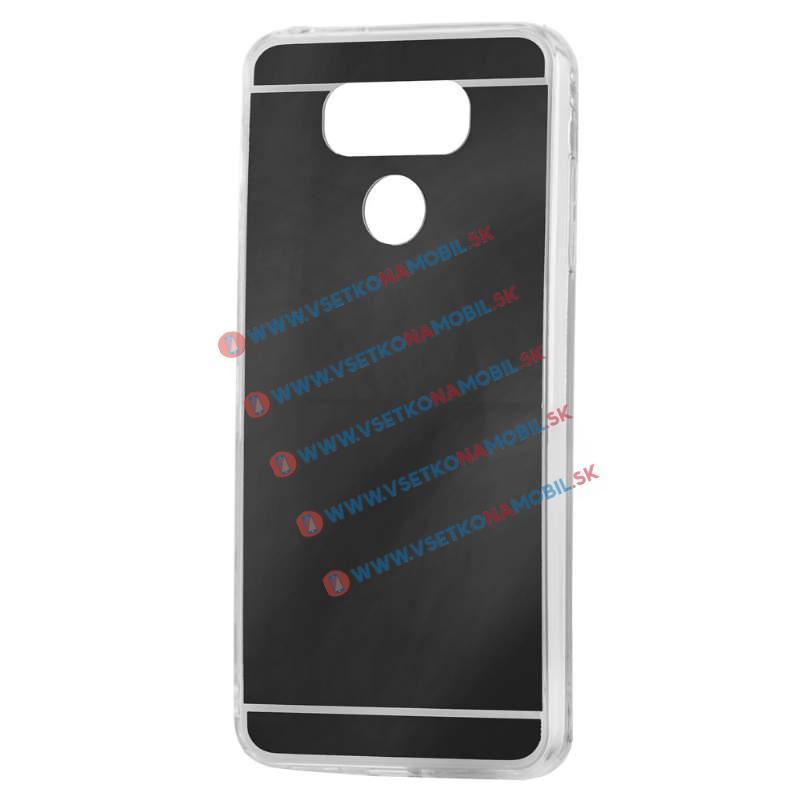 FORCELL Zrkadlový silikónový obal LG G6 čierny