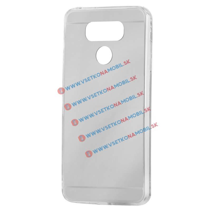 FORCELL Zrkadlový silikónový obal LG G6 strieborný