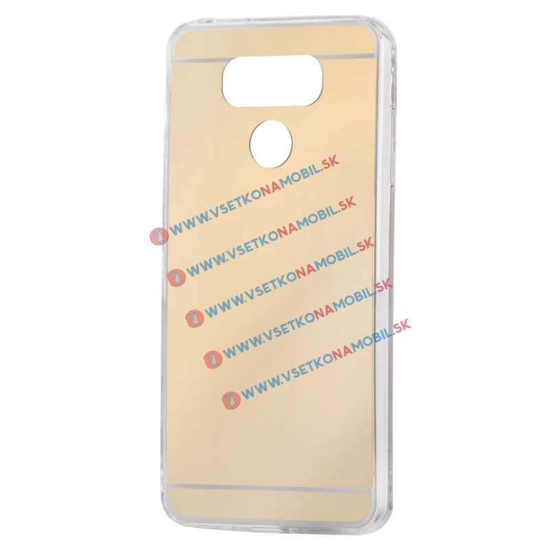FORCELL Zrkadlový silikónový obal LG G6 zlatý