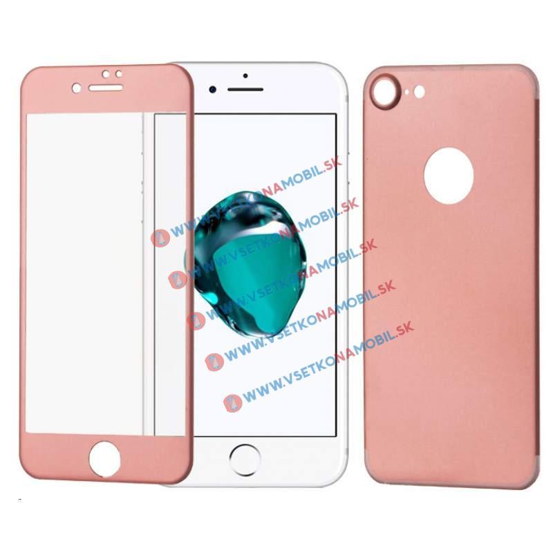 FORCELL 3D ALU Temperované sklo (PŘEDNÍ + ZADNÍ) Apple iPhone 7 růžové