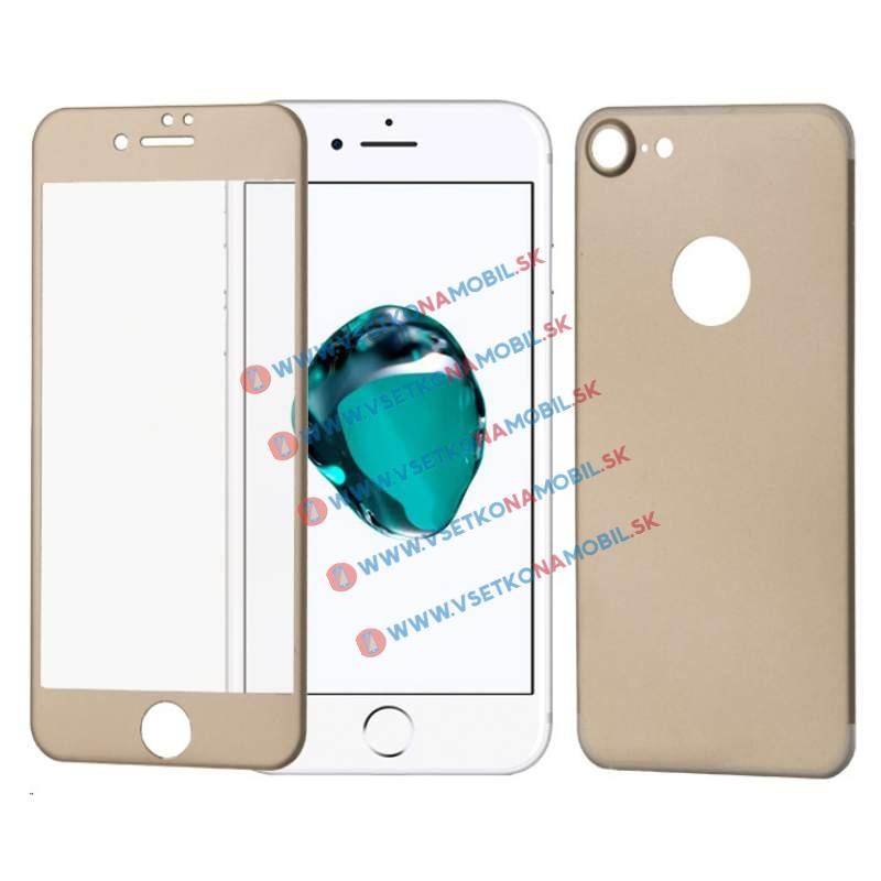 FORCELL 3D ALU Temperované sklo (PŘEDNÍ + ZADNÍ) Apple iPhone 7 zlaté
