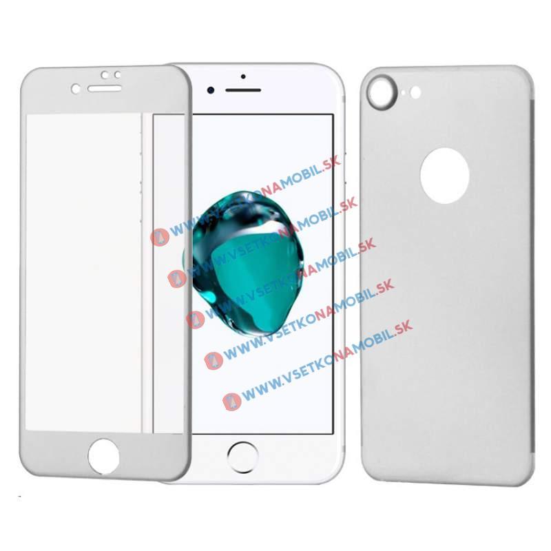 FORCELL 3D ALU Temperované sklo (PŘEDNÍ + ZADNÍ) Apple iPhone 7 stříbrné