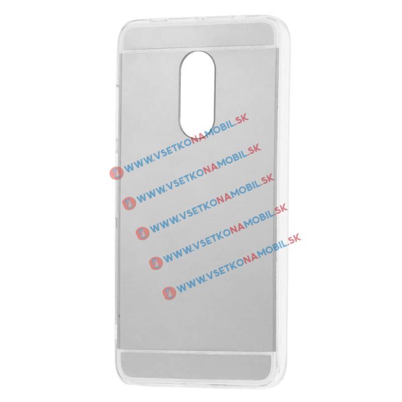 FORCELL Zrcadlový silikonový obal Xiaomi Redmi Note 4 stříbrný