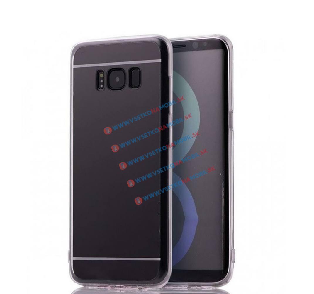 FORCELL Zrkadlový silikónový obal Samsung Galaxy S8 čierny