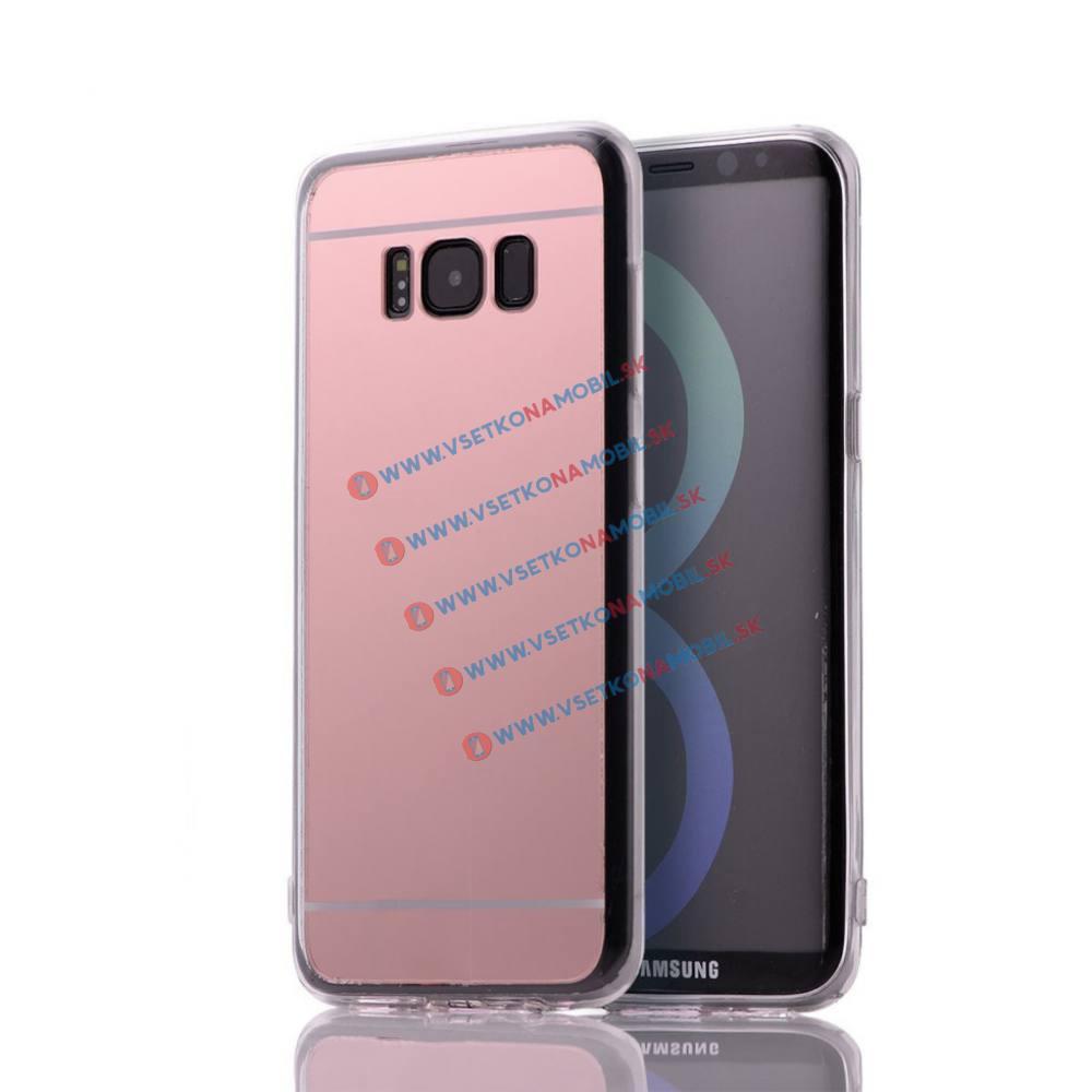 FORCELL Zrcadlový silikonový obal Samsung Galaxy S8 růžový