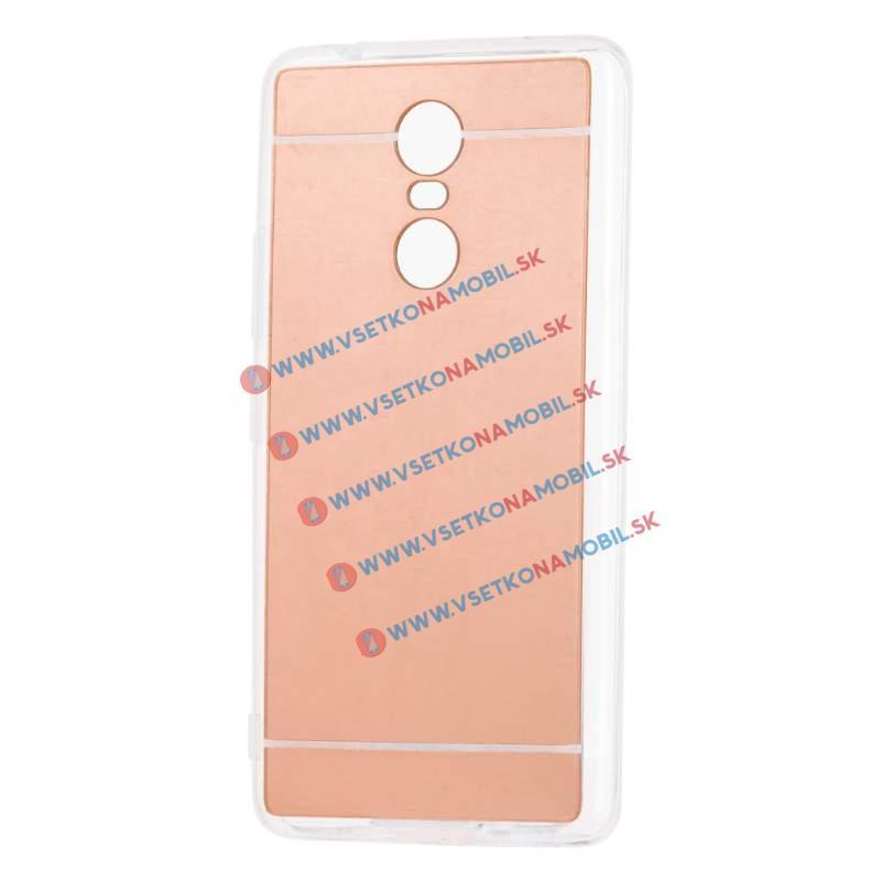 FORCELL Zrcadlový silikonový obal Lenovo K6 Note růžový