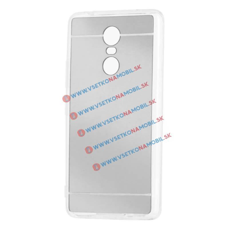 FORCELL Zrcadlový silikonový obal Lenovo K6 Note stříbrný