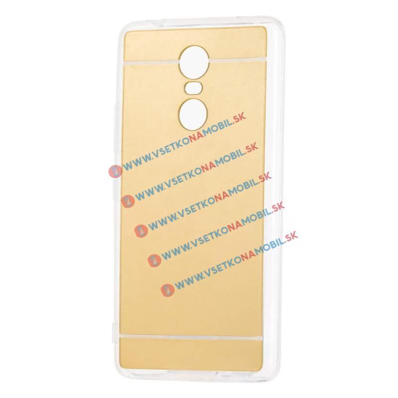 FORCELL Zrcadlový silikonový obal Lenovo K6 Note zlatý