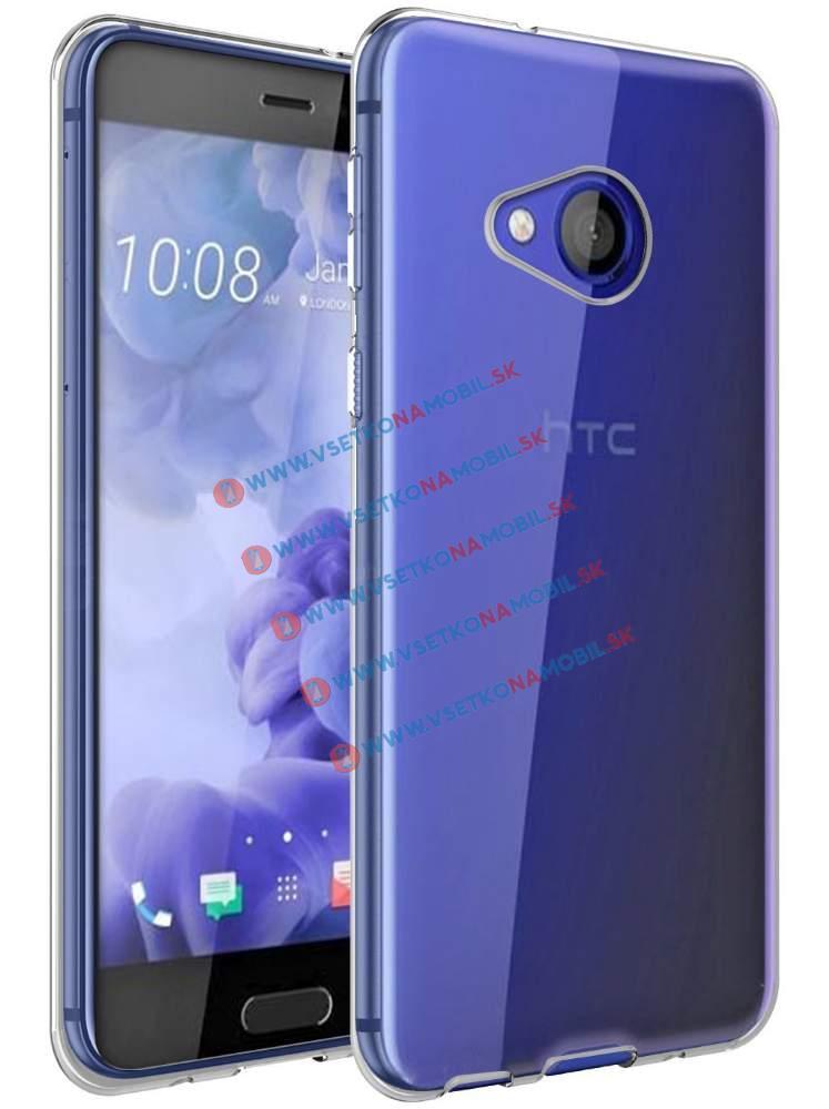 FORCELL Silikonový obal HTC U Play průhledný
