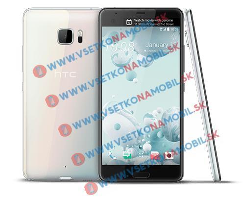 Silikonový HTC U Ultra průhledný